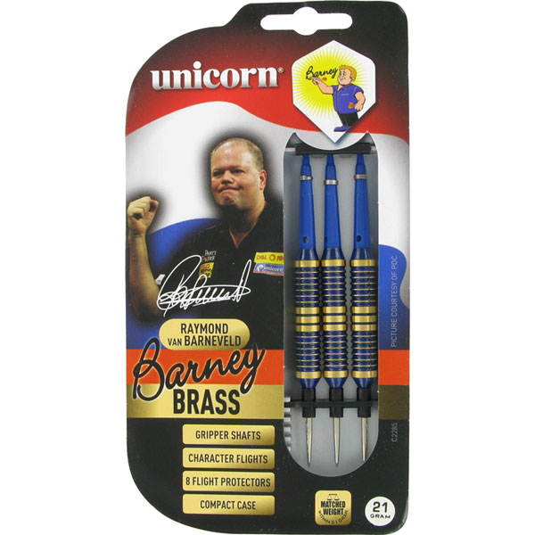 Unicorn Barney Brass blauw dartpijlen 21 gram