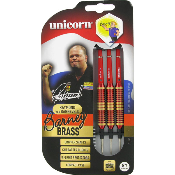 Unicorn Barney Brass rood dartpijlen 27 gram